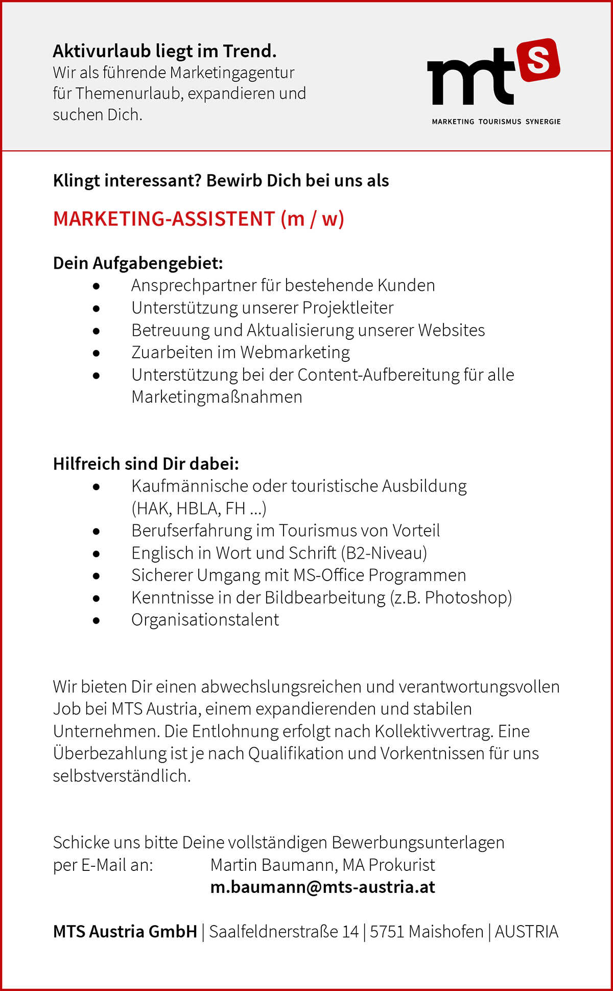 Marketing-Assistent (w/m/d)​