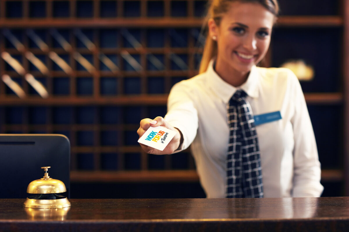 Receptionist With Key Card